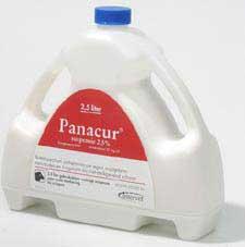 We gebruiken panacur vloeibaar